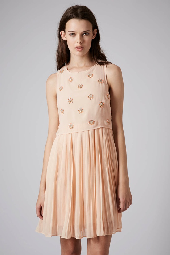beaded bodice pleat dress topshop 5 Graduation Day Dress Ideas