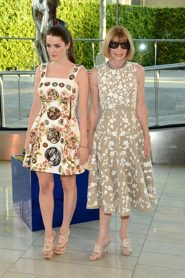 Bee Schafer wore Dolce & Gabbana while her mother Anna Wintour donned Michael Kors
