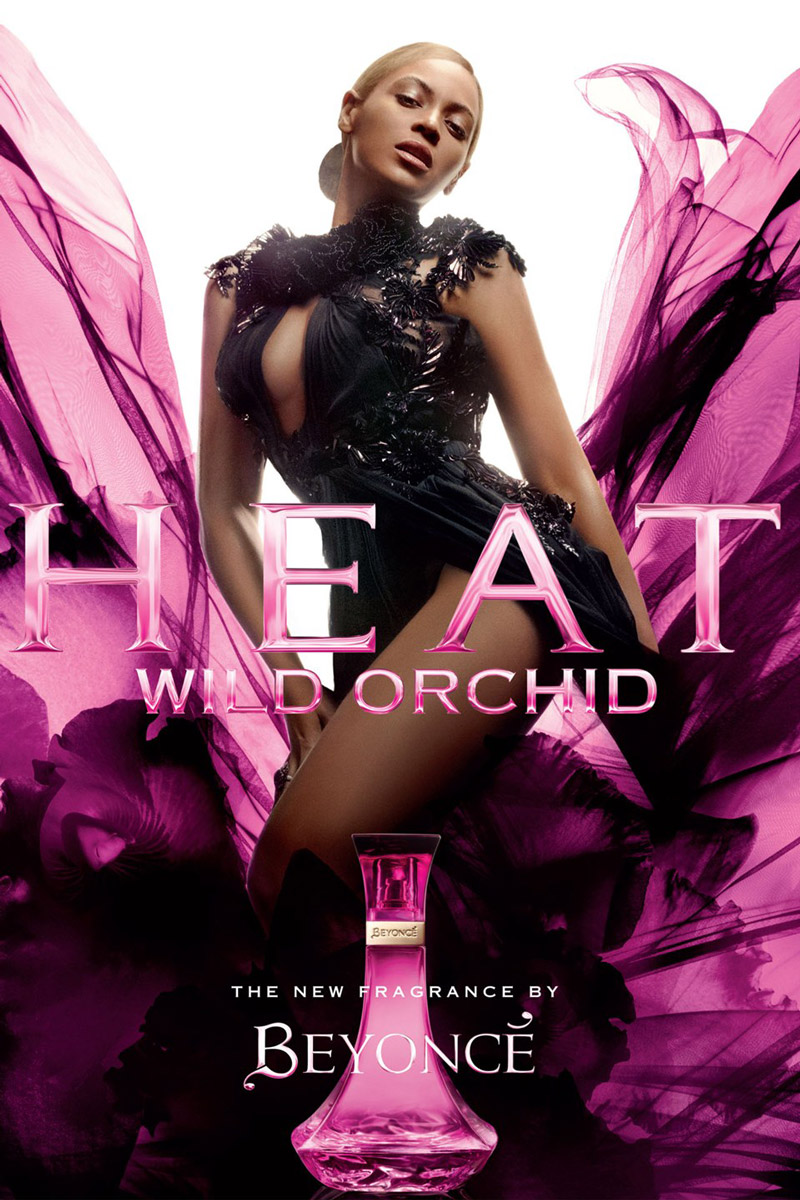 beyonce heat wild orchid fragrance ad photo Beyonce Sizzles in Gucci with Heat Wild Orchid Fragrance Ad