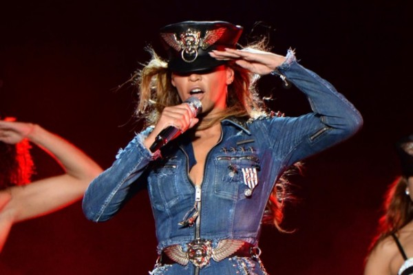 Beyonce wears costume denim by Diesel. Image: Getty/Diesel