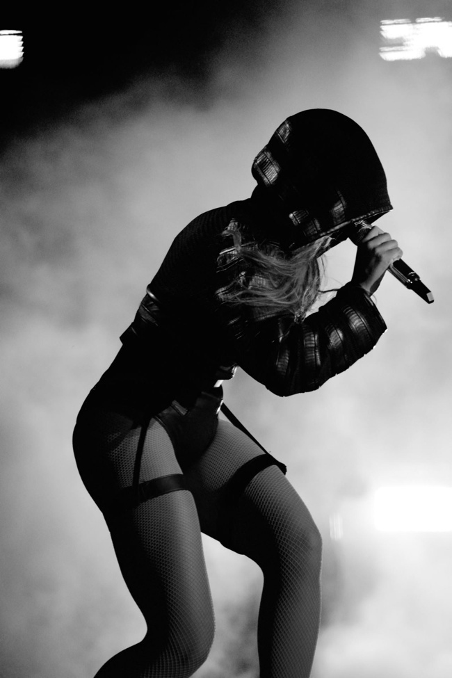 Beyonce wears costume Alexander Wang. Image: Beyonce Website