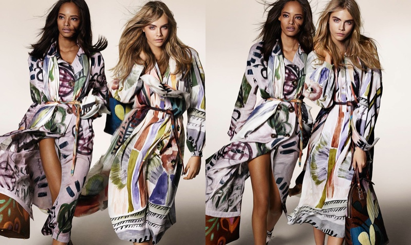 burberry fall winter 2014 campaign photos3 Cara Delevingne, Suki Waterhouse & Malaika Firth Land Burberry Fall 2014 Campaign
