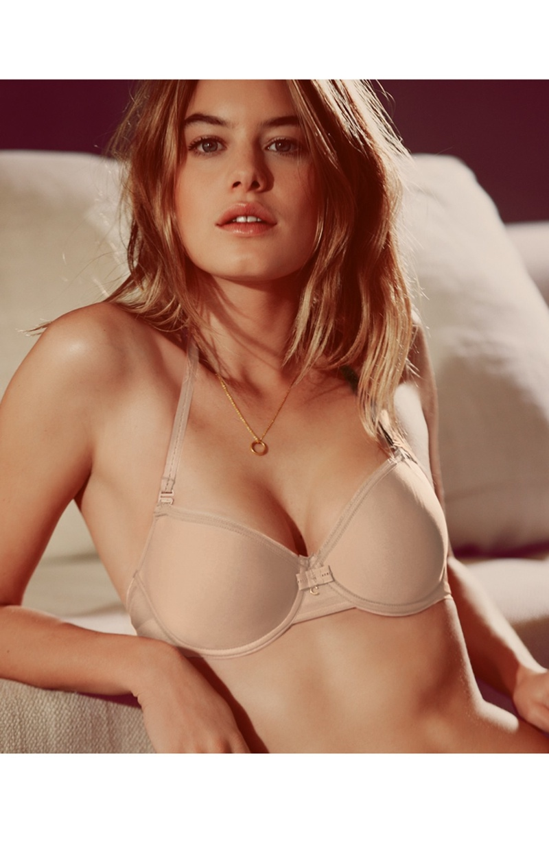camille rowe lingerie photo shoot4 Camille Rowe Models Lingerie Styles for Nordstrom Shoot