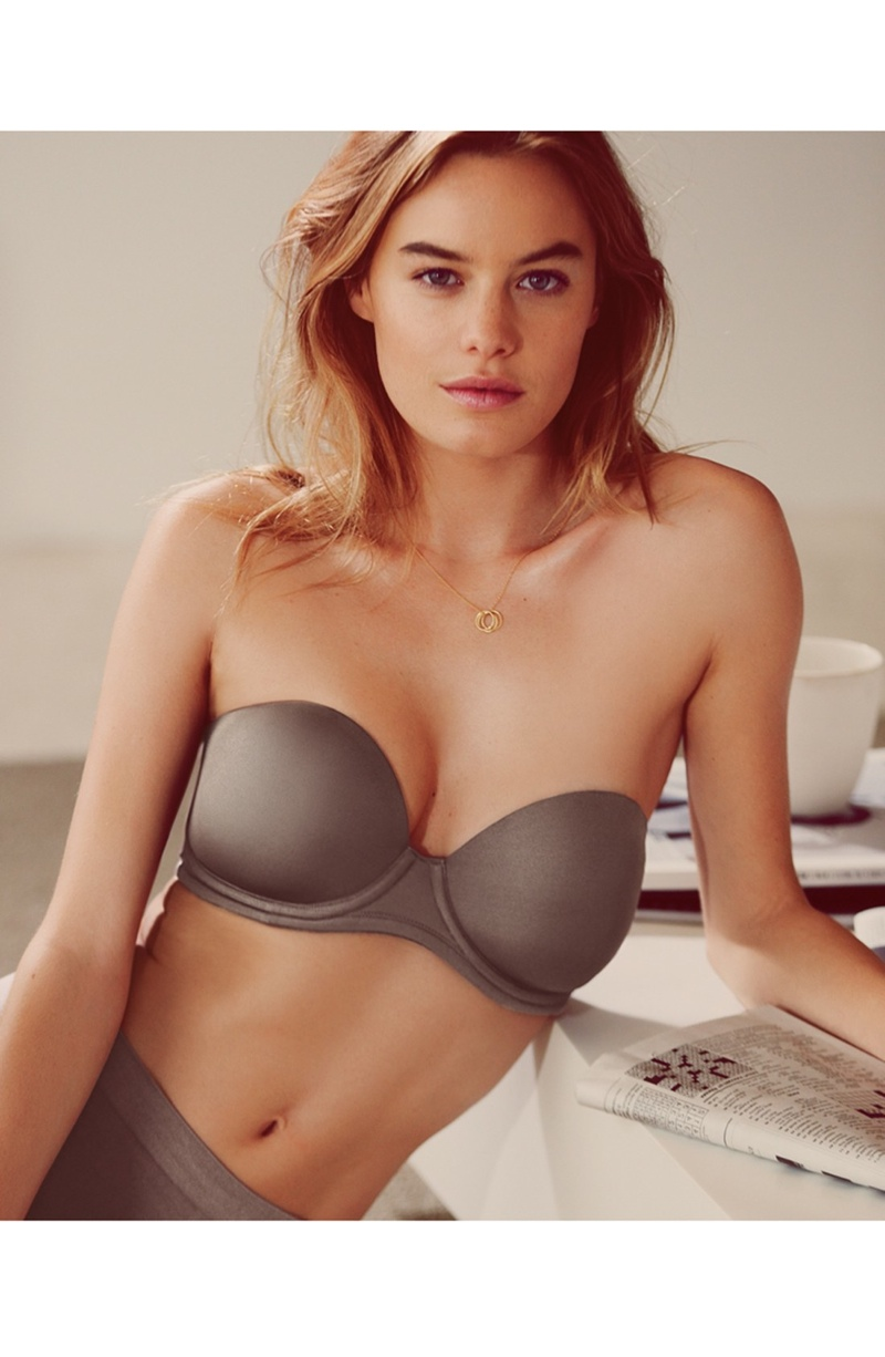 camille rowe lingerie photo shoot6 Camille Rowe Models Lingerie Styles for Nordstrom Shoot