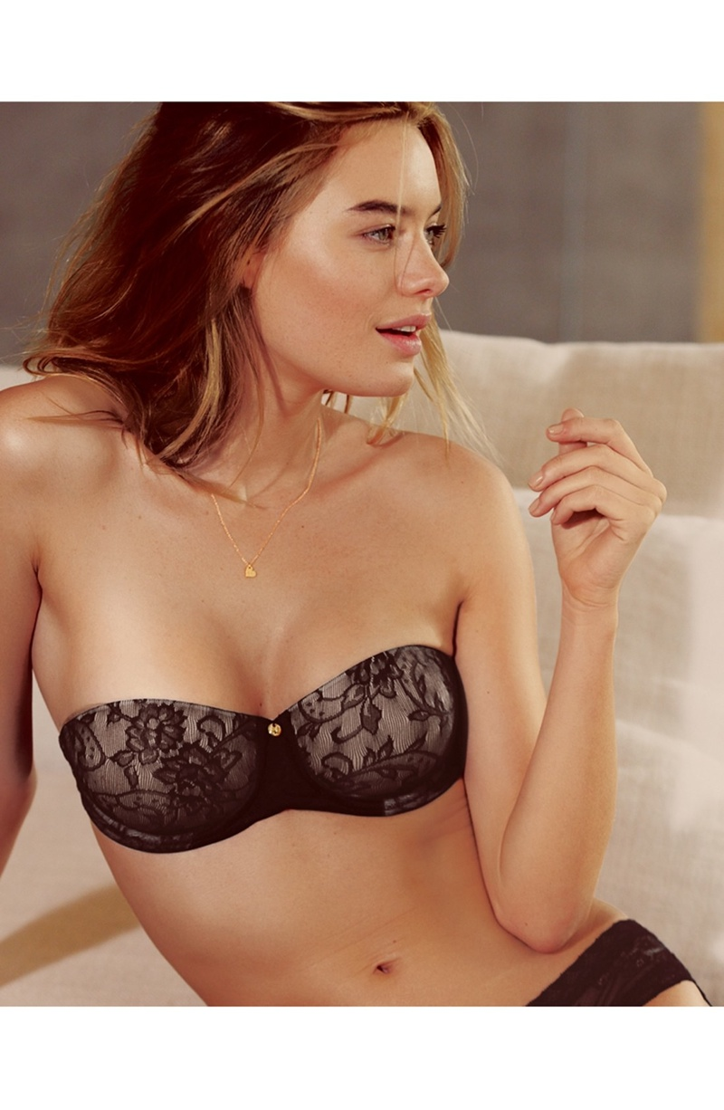 camille rowe lingerie photo shoot7 Camille Rowe Models Lingerie Styles for Nordstrom Shoot