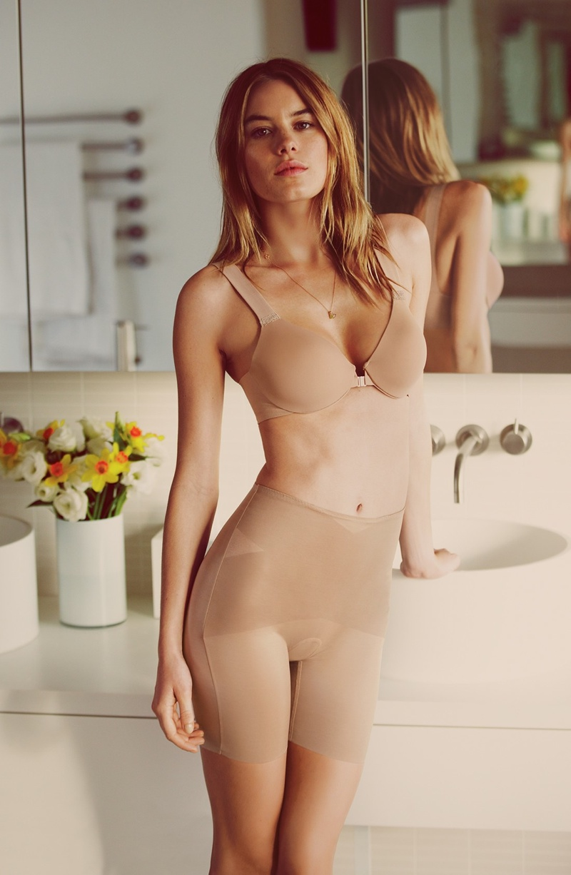 camille rowe lingerie photo shoot8 Camille Rowe Models Lingerie Styles for Nordstrom Shoot