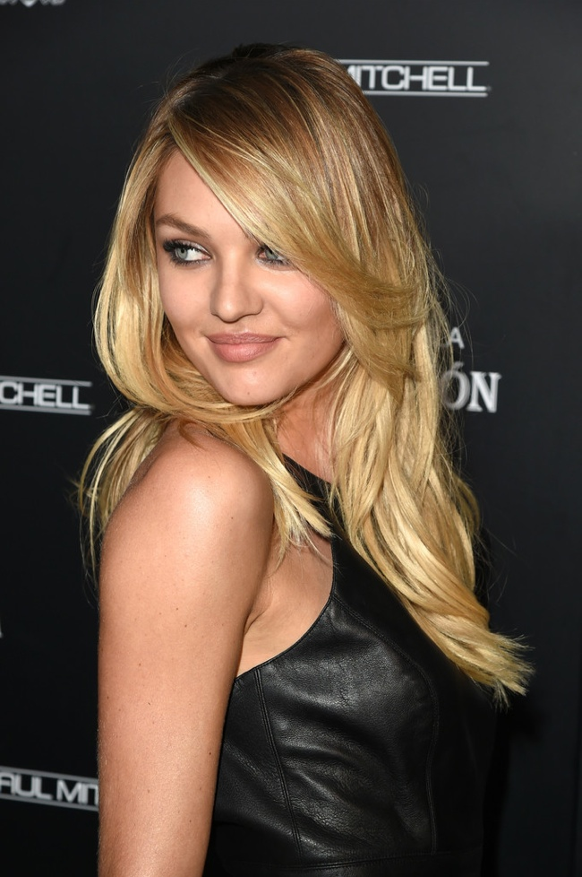 candice swanepoel leather pants lost art2 Candice Swanepoel Wows in Leather at Maxim 100 Event