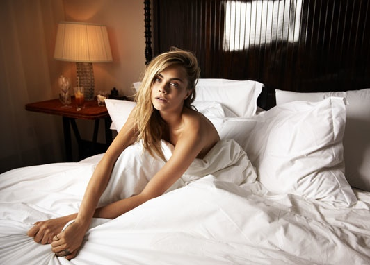 cara delevingne bed photos1 Cara Delevingne Poses in Bed for The Telegraph, Talks Sexuality