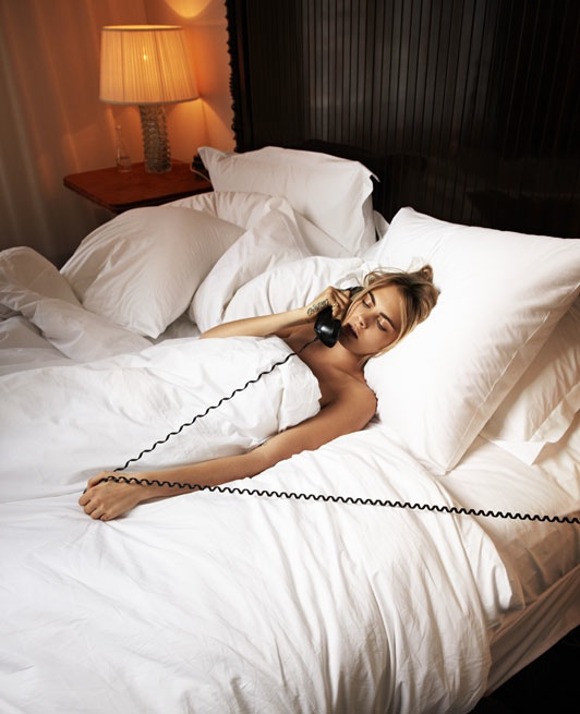 cara delevingne bed photos2 Cara Delevingne Poses in Bed for The Telegraph, Talks Sexuality