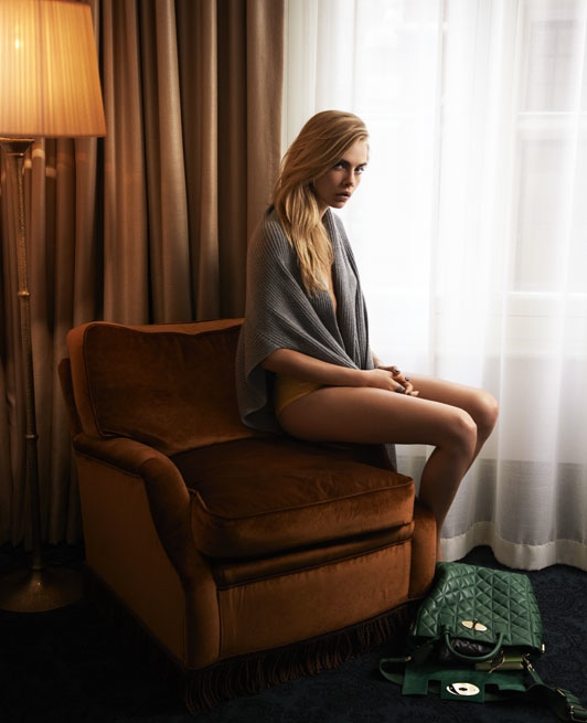 cara delevingne bed photos4 Cara Delevingne Poses in Bed for The Telegraph, Talks Sexuality