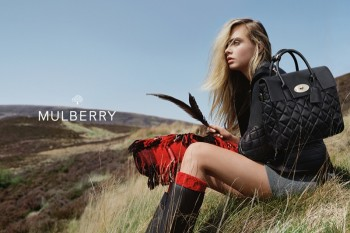 Cara Delevingne Poses in the Countryside for Mulberry's Fall 2014 Ads