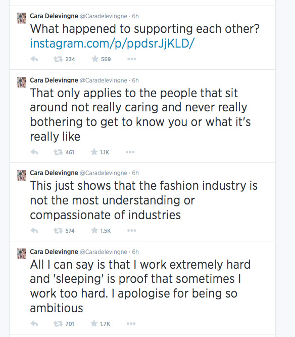 cara delevingne twitter vogue Cara Delevingne Goes on Twitter Rant After Unflattering Vogue Feature