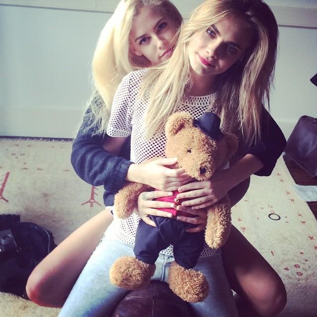 Cara Delevingne with Riley Keough
