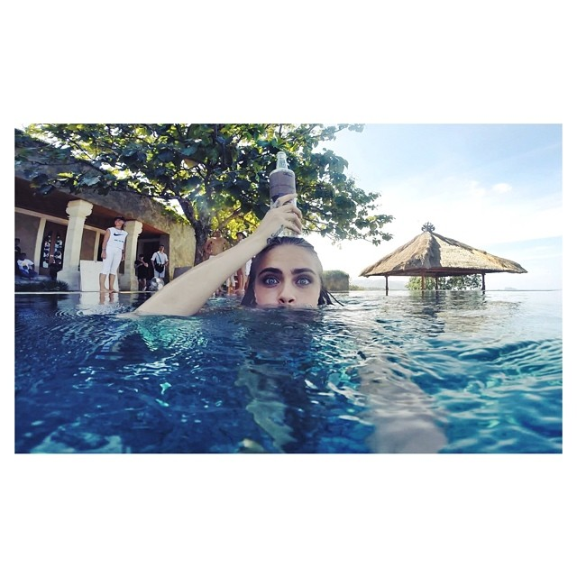 cara water Cara Delevingne Takes Fun Snaps in Bali While Shooting Campaign