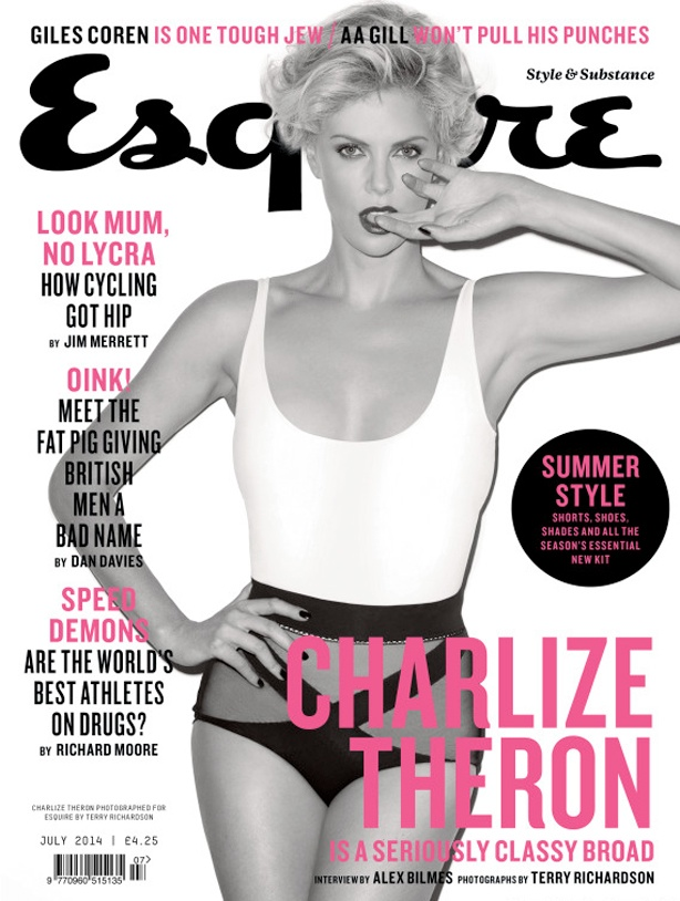 charlize theron terry richardson hot4 Charlize Theron is Hot in Black & White for Esquire UK Shoot by Terry Richardson