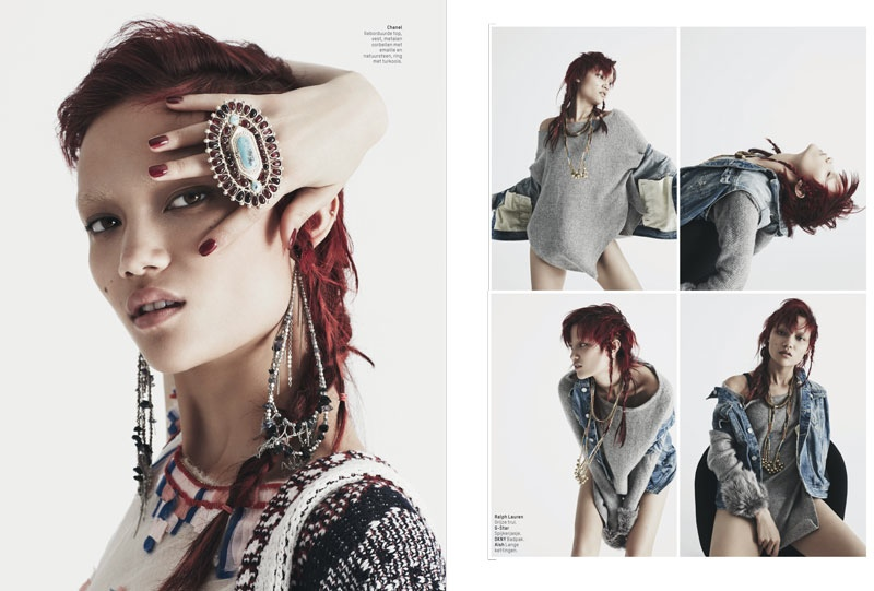 charlotte carey pictures3 Charlotte Carey is Cowgirl Chic for L'Officiel Netherlands by Billy Kidd