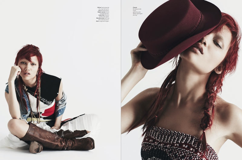 charlotte carey pictures5 Charlotte Carey is Cowgirl Chic for L'Officiel Netherlands by Billy Kidd