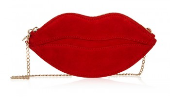 Daily Find: Charlotte Olympia's Playful 'Kiss' Purse in Suede