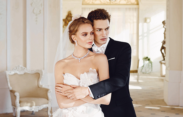 Frida Gustavsson Plays a Blushing Bride in Chow Sang Sang Campaign