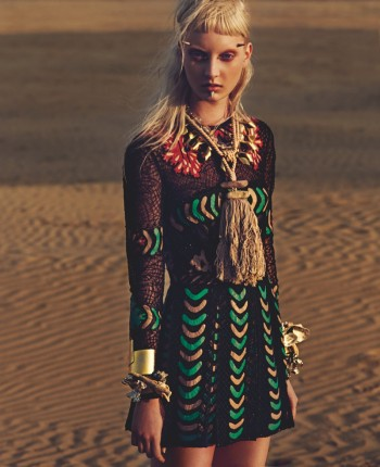 Codie Young is Punk at the Beach for W Korea by Philip Riches
