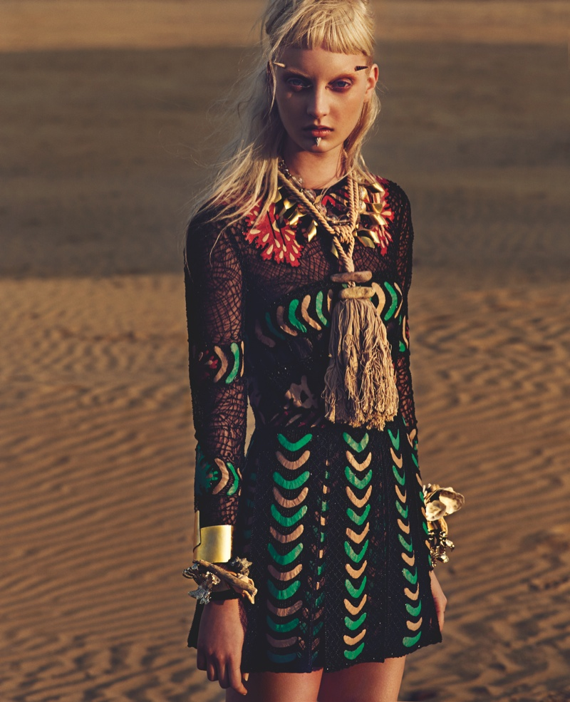 codie young punk beach1 Codie Young is Punk at the Beach for W Korea by Philip Riches
