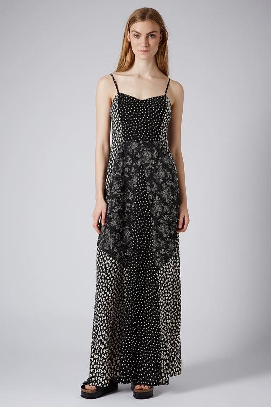 contrast-floral-print-maxi-dress-topshop
