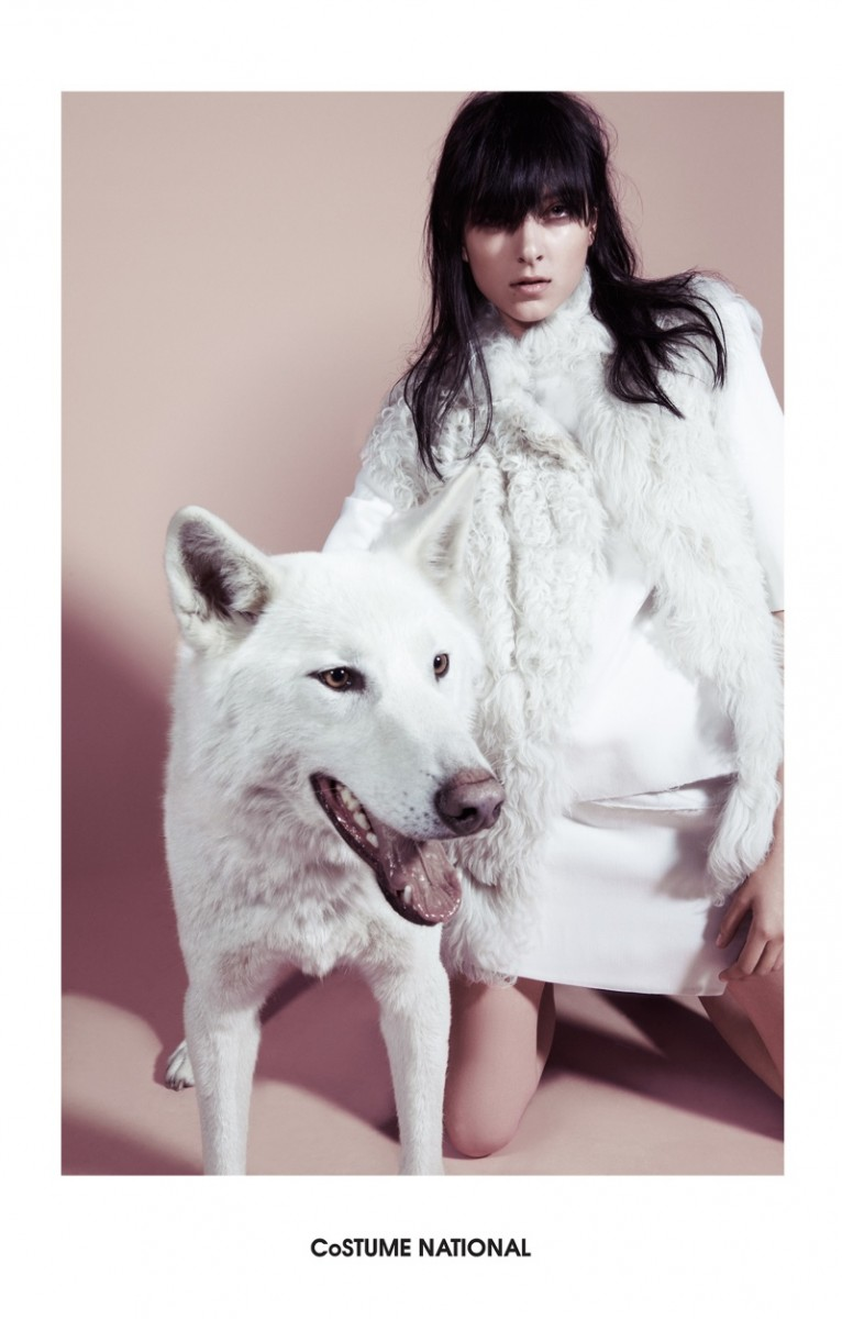 costume national 2014 fall winter campaign1 766x1200 Trend: Models Posing with Animals in Fashion Shoots