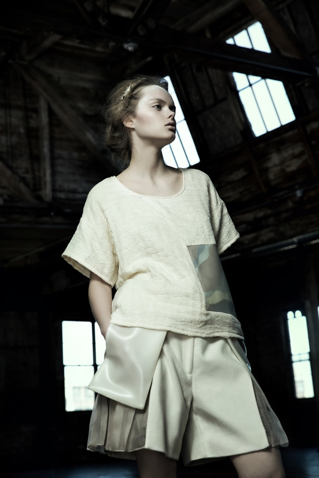danica zheng designs9 Shades of Pale: Danica Zhengs Fall/Winter 2015 Collection