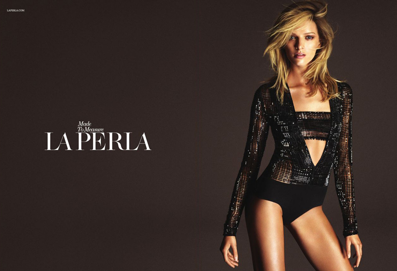 daria strokous la perla ad Daria Strokous Photo for La Perla Fall Campaign Revealed