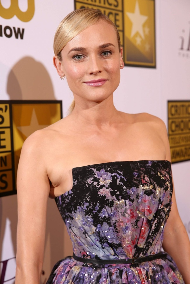 diane kruger elie saab dress2 Diane Kruger Enchants in Elie Saab Dress at the 2014 Critics' Choice Television Awards