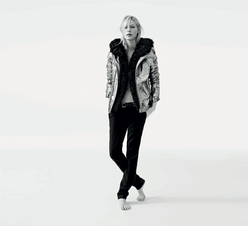 diesel black gold fall winter 2014 campaign1 Julia Nobis is Winter Cool for New Diesel Black Gold Campaign
