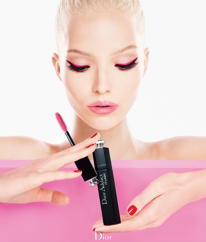 dior lash addict photos makeup1 Sasha Luss Returns for Dior Addict It Lash Mascara Campaign