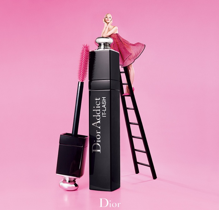 dior lash addict photos makeup2 Sasha Luss Returns for Dior Addict It Lash Mascara Campaign