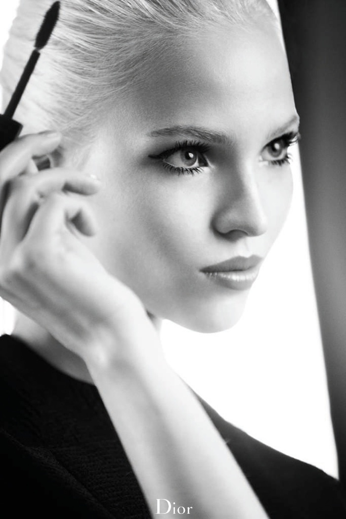 dior lash addict photos makeup5 Sasha Luss Returns for Dior Addict It Lash Mascara Campaign