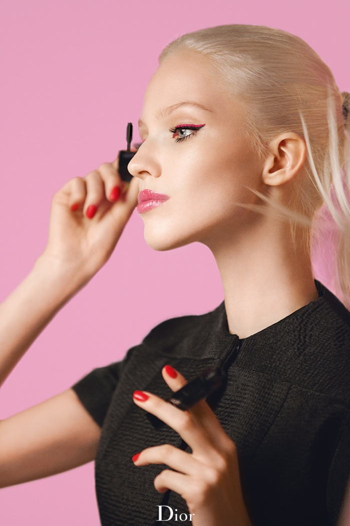 dior lash addict photos makeup6 Sasha Luss Returns for Dior Addict It Lash Mascara Campaign