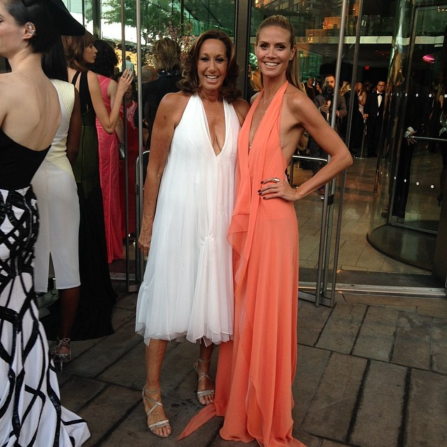 Donna Karan & Heidi Klum at the 2014 CFDA Awards. Photo: dknyprgirl Instagram
