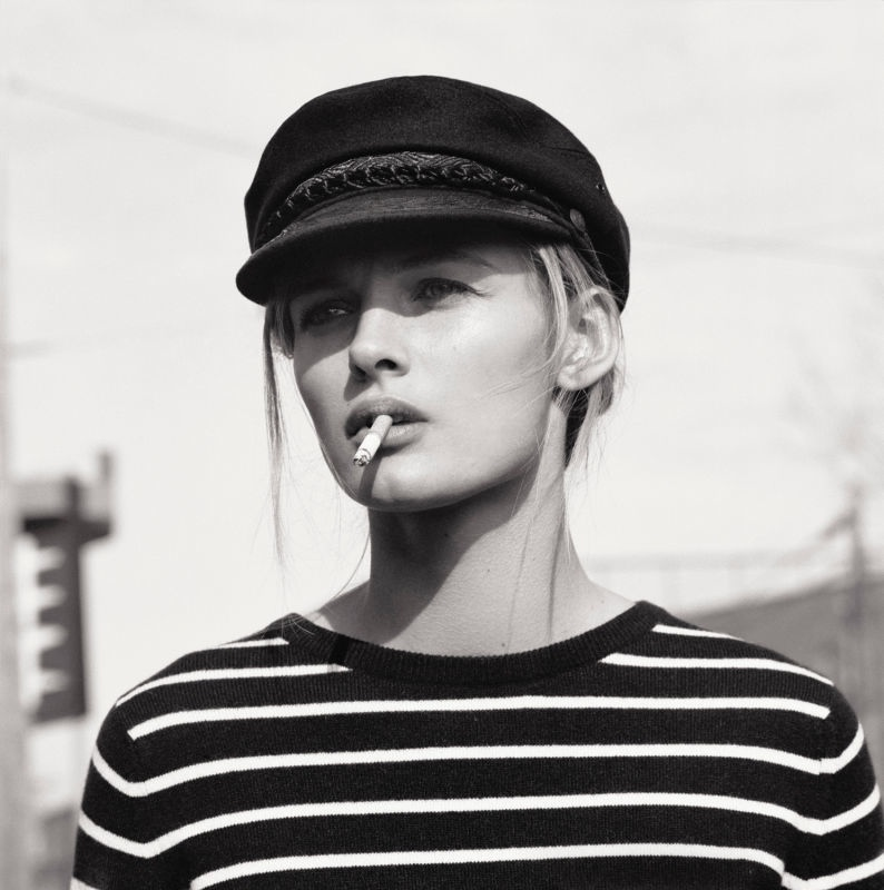 edita vilkeviciute black white6 Edita Vilkeviciute Poses for Mark Peckmezian in Black & White for Holiday Magazine