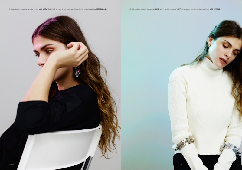 elisa sednaoui 2014 4 Elisa Sednaoui Goes Back to Basics for Lurve Magazine