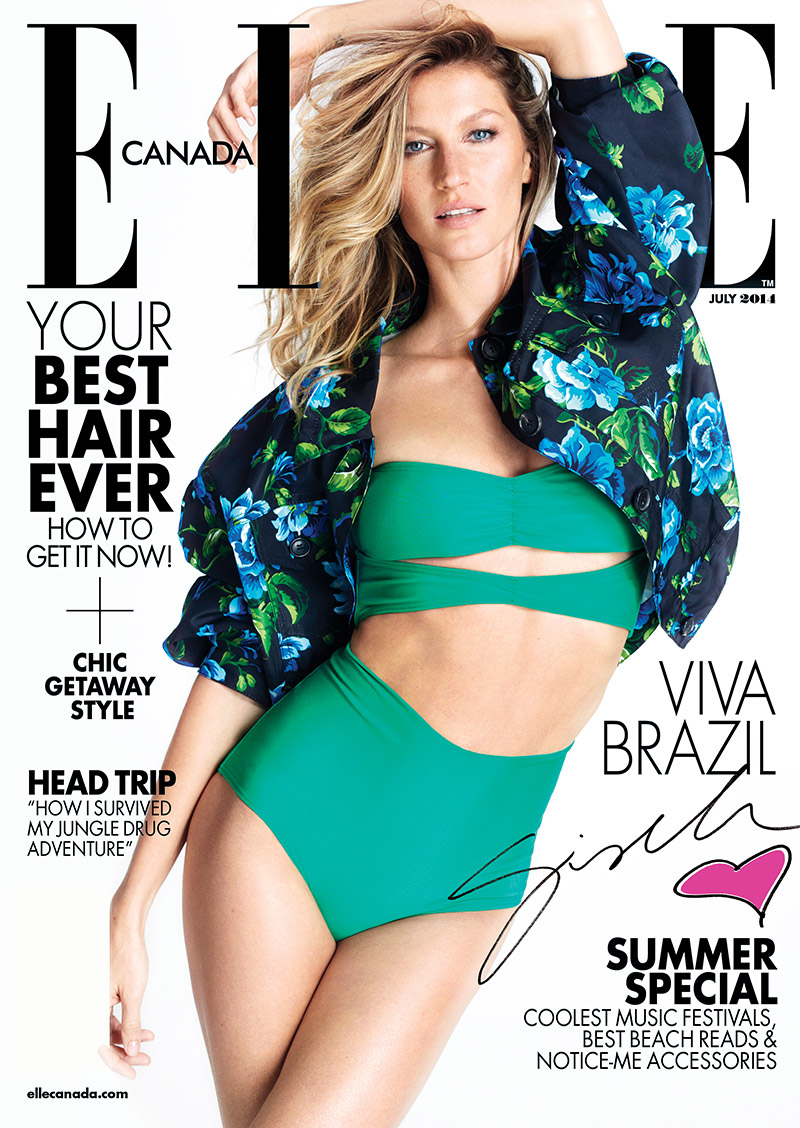 elle canada gisele bundchen Gisele Bundchen Stars in Elle Canada, Talks the World Cup Being in Brazil