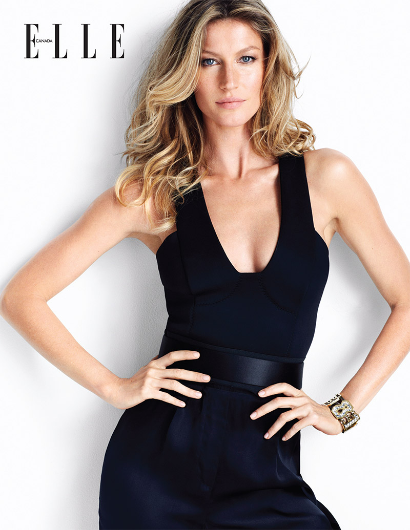 elle canada gisele bundchen1 Gisele Bundchen Stars in Elle Canada, Talks the World Cup Being in Brazil