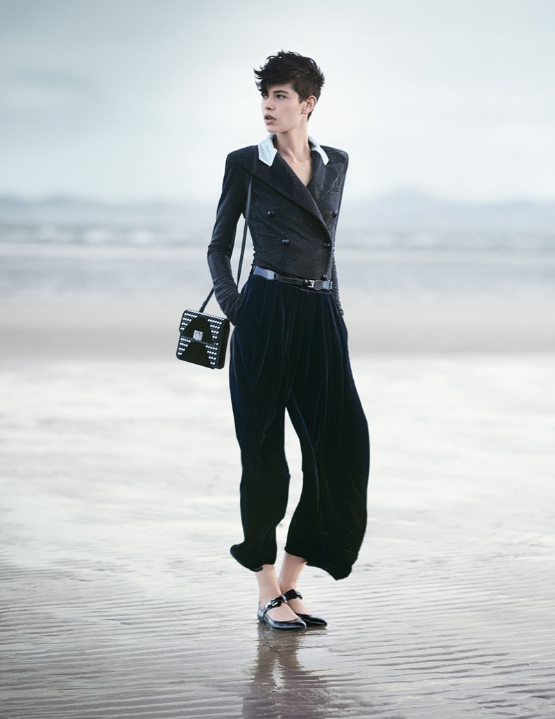 emporio armani fall winter 2014 campaign1 Emporio Armani Heads to the Beach for its Fall/Winter 2014 Campaign