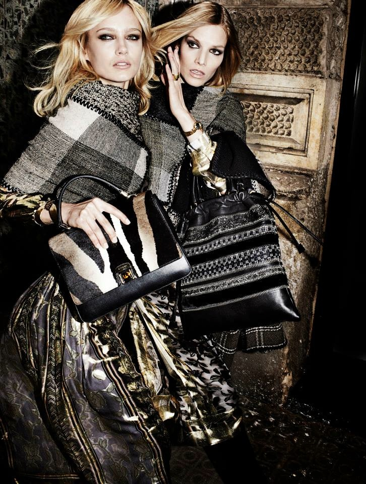 etro fall winter 2014 campaign4 Karmen Pedaru, Suvi Koponen Have a Night Out for Etros Fall 2014 Campaign