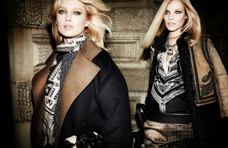 etro fall winter 2014 campaign5 Karmen Pedaru, Suvi Koponen Have a Night Out for Etros Fall 2014 Campaign
