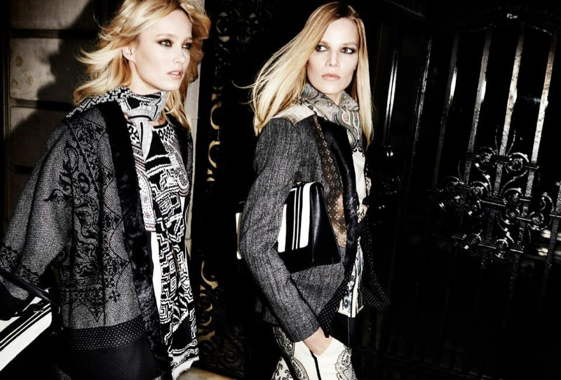 etro fall winter 2014 campaign9 Karmen Pedaru, Suvi Koponen Have a Night Out for Etros Fall 2014 Campaign