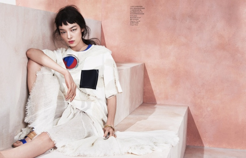 Modern Romance: Fei Fei Sun Poses for Sharif Hamza in Vogue China