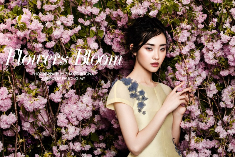 "FGR Exclusive | Kwak Ji Young by Zhang Jingna in ""Flowers Bloom"""