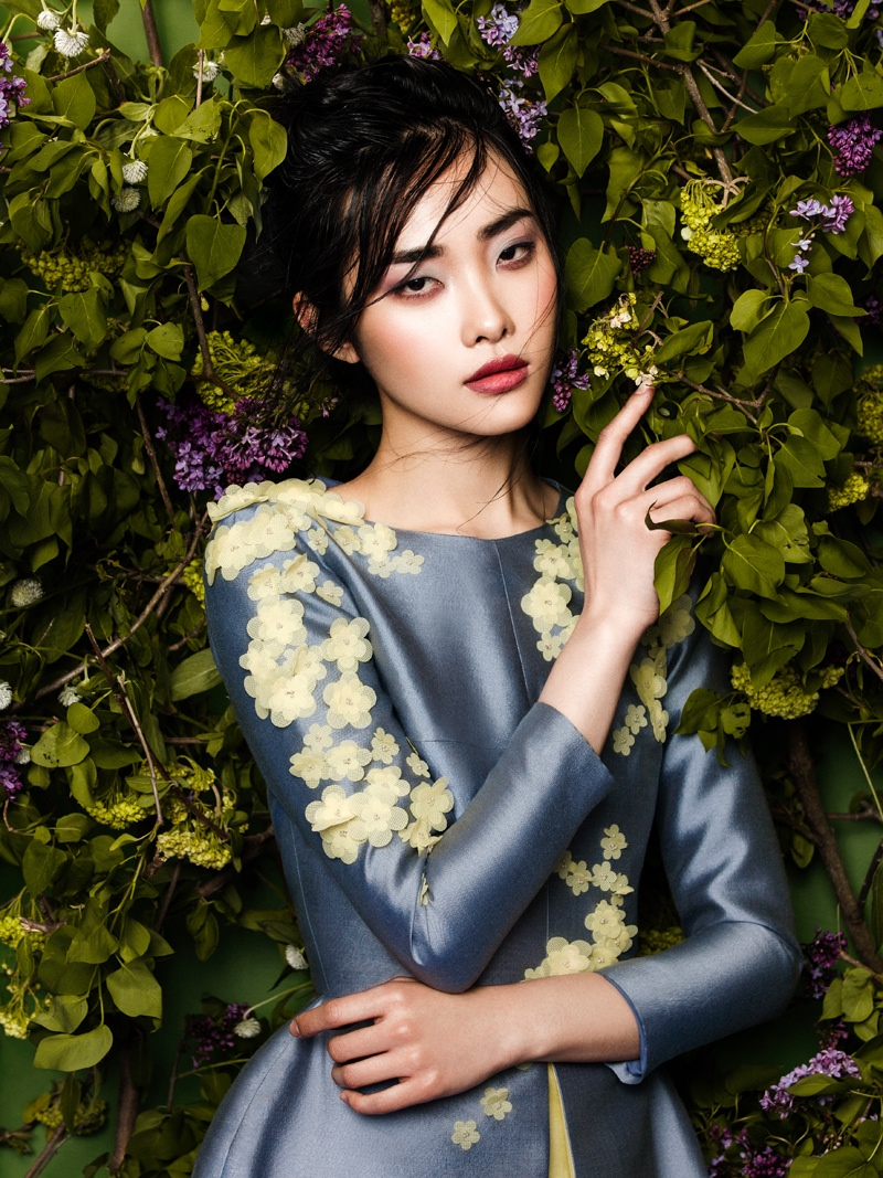 flowers fashion zhang jingna phuong my4 FGR Exclusive | Kwak Ji Young by Zhang Jingna in Flowers Bloom