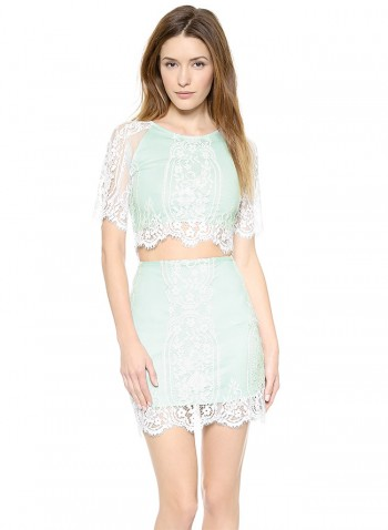 MINT REFRESHER: For Love & Lemons' Lace Crop Top in Mint available at Shopbop