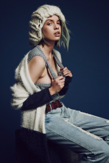 Stella Maxwell Models For Love & Lemons' Pre-Fall Collection