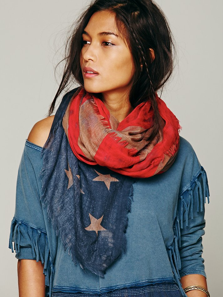 free people american flag scarve 5 Patriotic 4th of July Looks